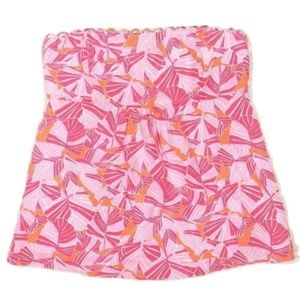Lilly Pulitzer silk strapless top